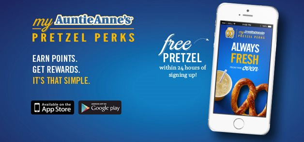 My Auntie Annes Pretzel Perks. Earn Points. Get Rewards. It's that simple.